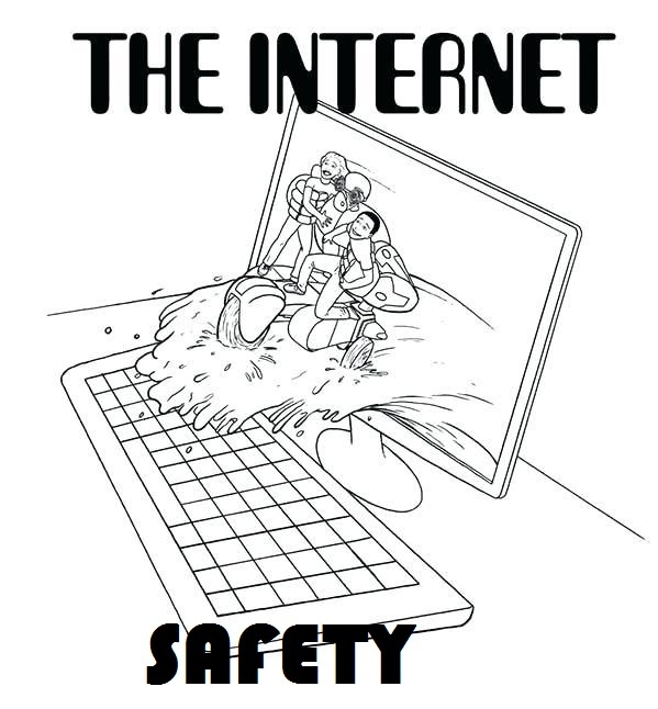 internet safety tips coloring pictures for children
