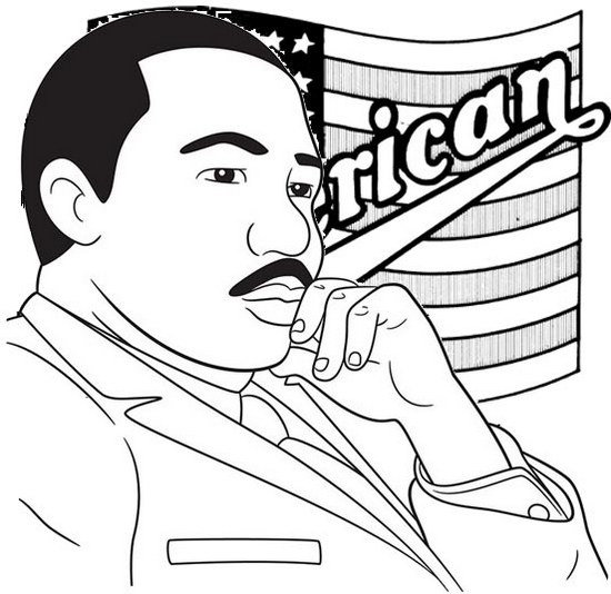 martin luther king jr biography coloring page