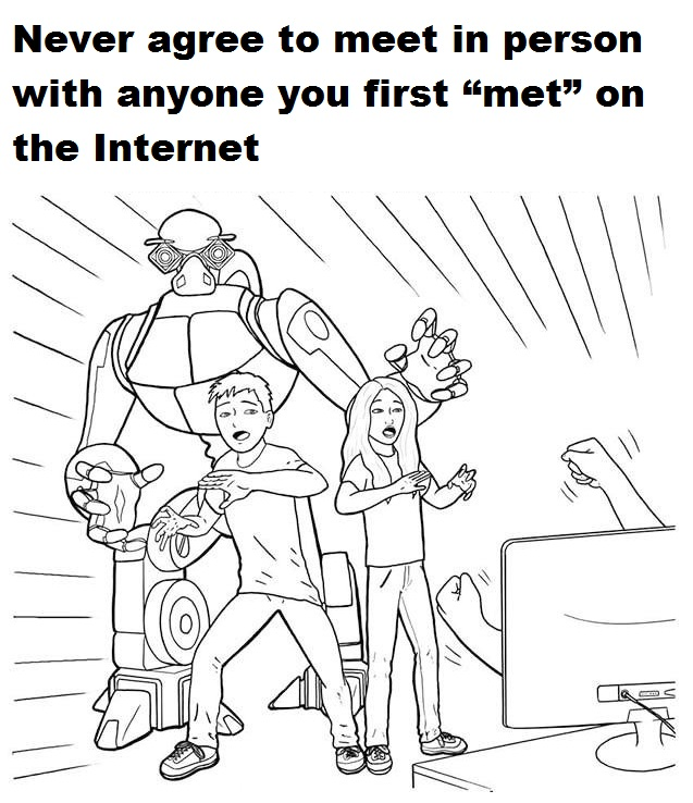 printable internet safety coloring page for kids