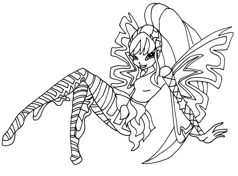 sirenix stella from Winx Club Coloring Sheet Printable