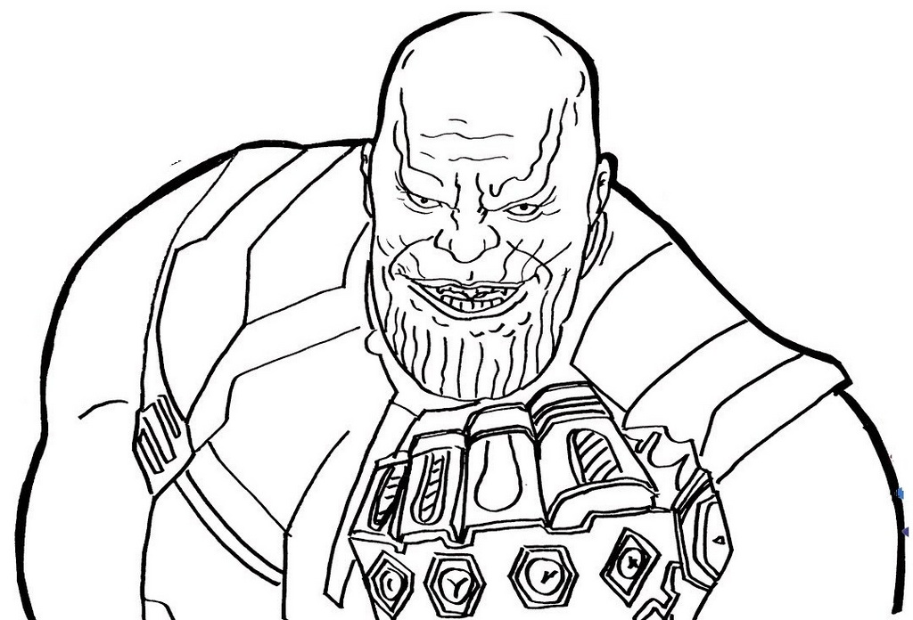 Superhero Thanos Coloring Pages: Thanos Infinity War Coloring Page