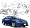 New and Perfect Toyota Car Coloring Pages