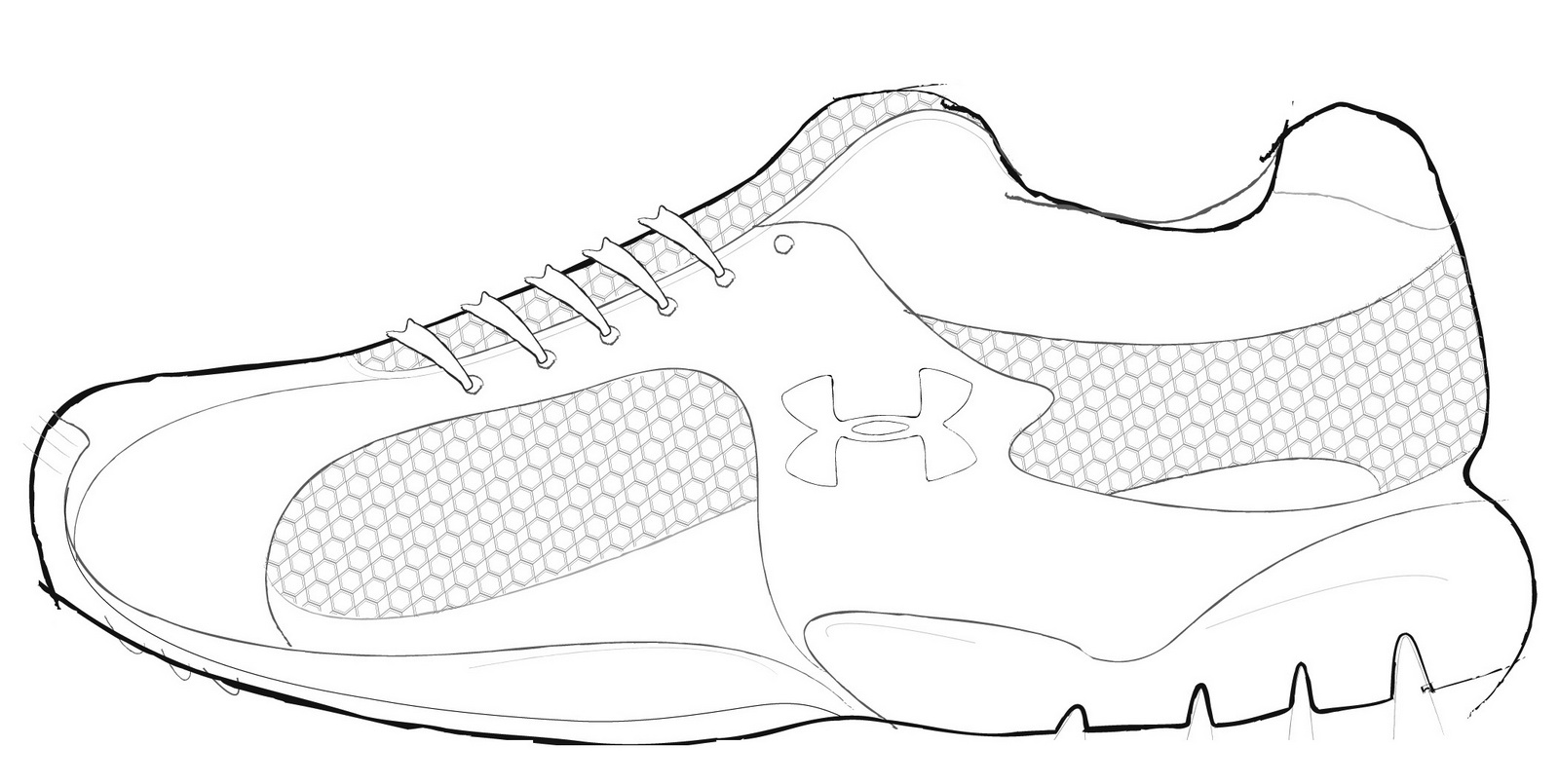 under armour shoes coloring pages