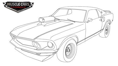 1970 Chevelle Muscle Car Coloring Page