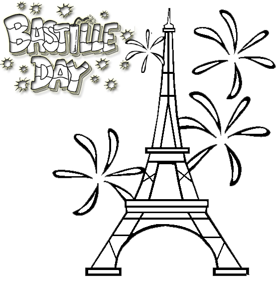 Bastille Day Fête de la Bastille Coloring Page