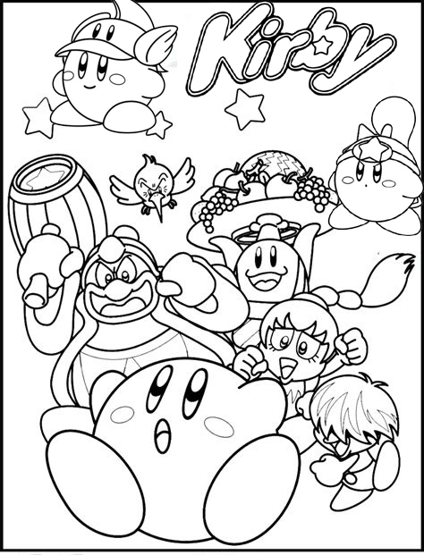 Best Kirby Nintendo Coloring Page