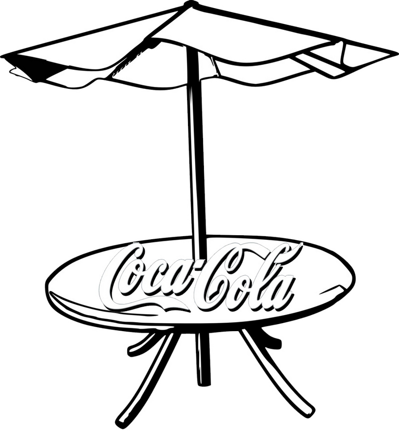 Coca Cola Umbrella Coloring Page
