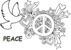 Peace Sign Coloring Pages for Students
