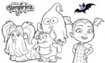 High Quality Vampirina Coloring Pages for Boys and Girls