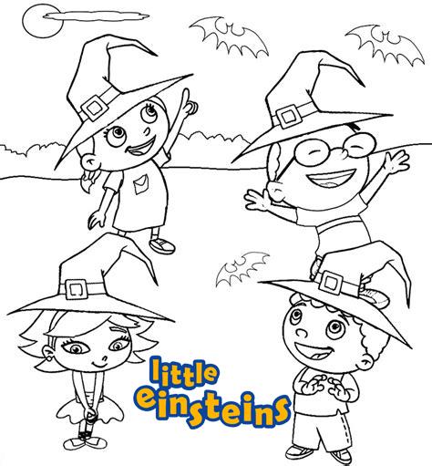 Little Einstein Halloween Coloring Page
