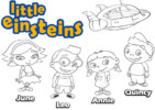 Little Einsteins Coloring Pages Engaging Children for Hours of Learning Fun