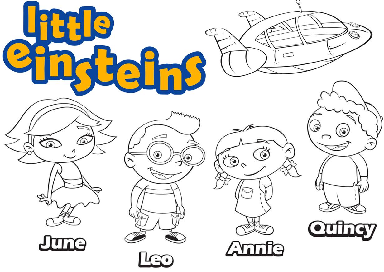 Little Einsteins Disney Coloring Page