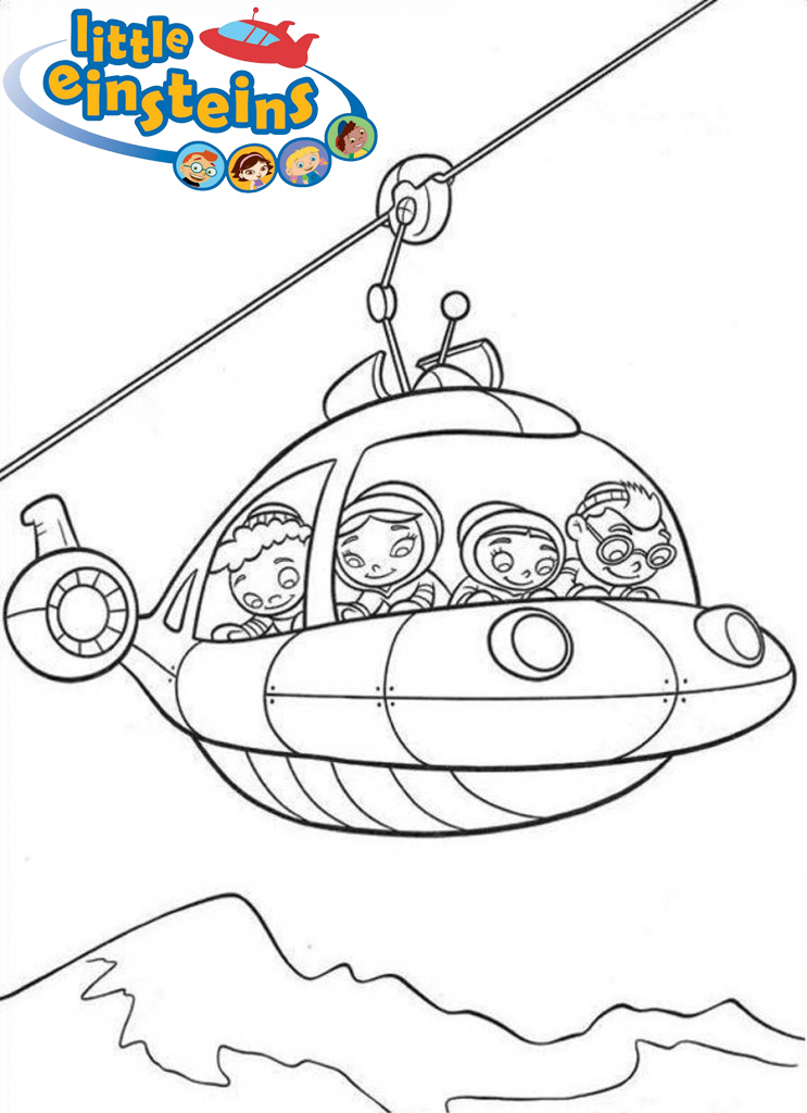 Little Einsteins Flying rocket Coloring Pages
