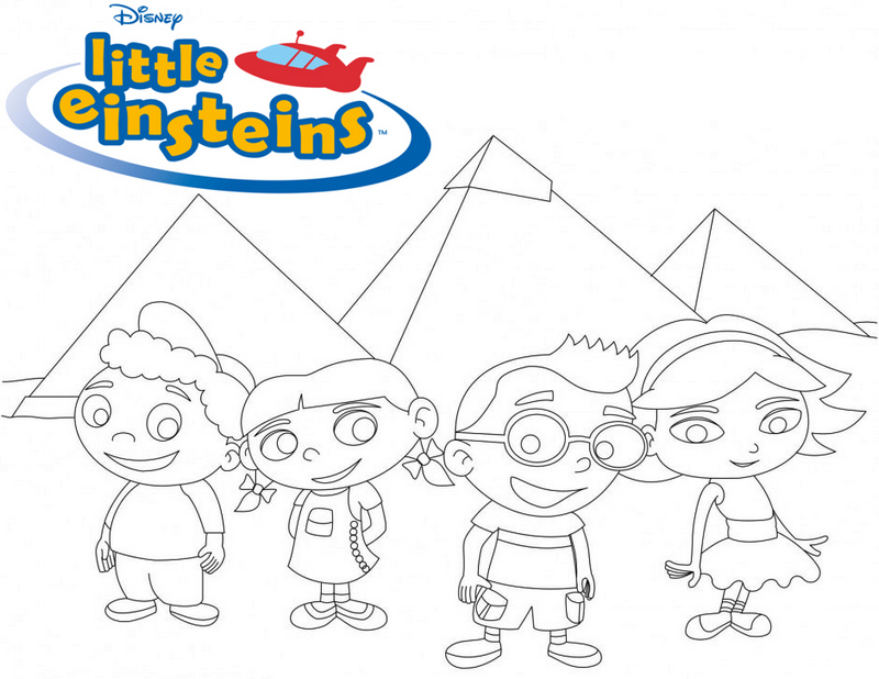 Little Einsteins Golden Pyramid Egypt adventure Coloring Page