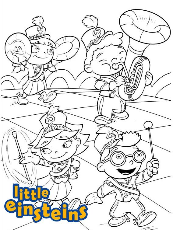Little Einsteins Musical Coloring Sheet