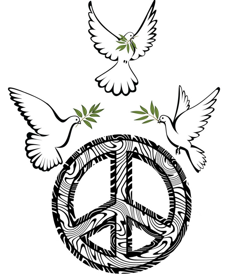 Peace Sign Vector Clipart