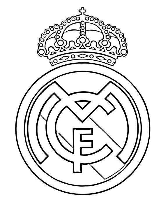 Real Madrid Logo Drawing
