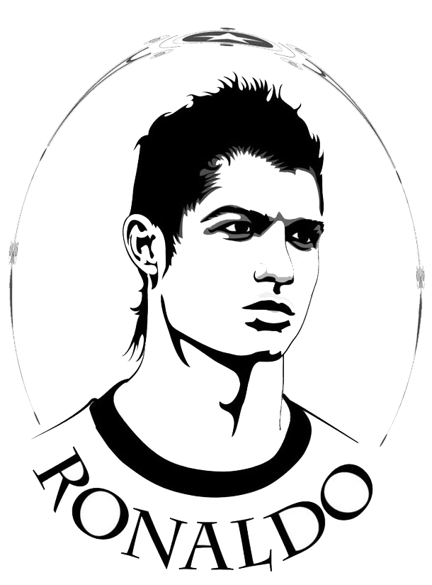 Ronaldo Drawing Coloring Page
