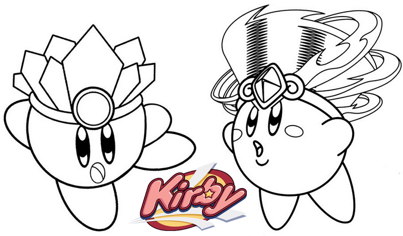 Tornado from Kirby Coloring Page