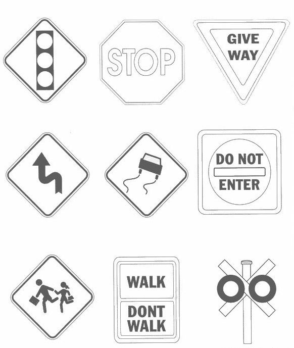 Traffic and Road Signs Clipart Symbol