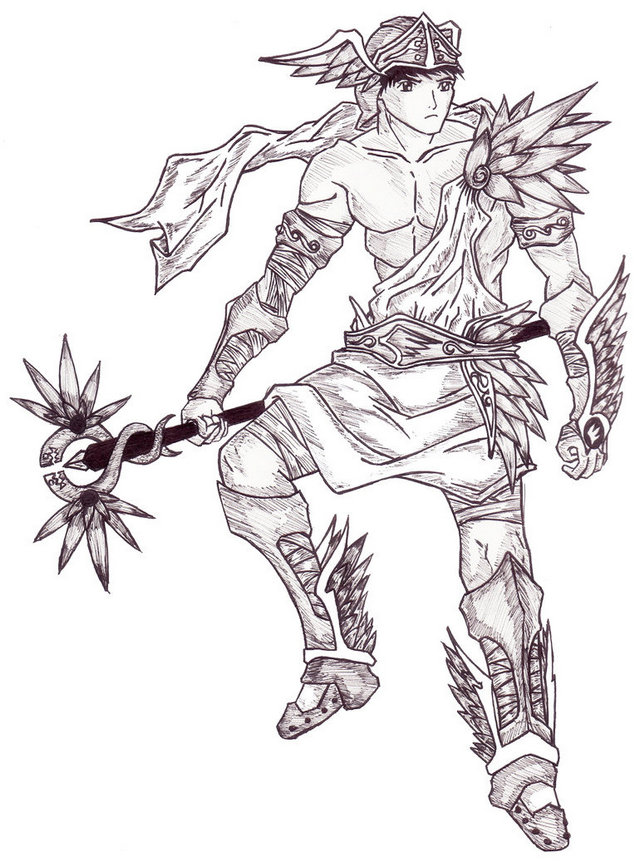 hermes mythology war coloring page