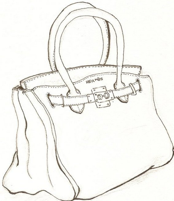 hermes bag coloring page