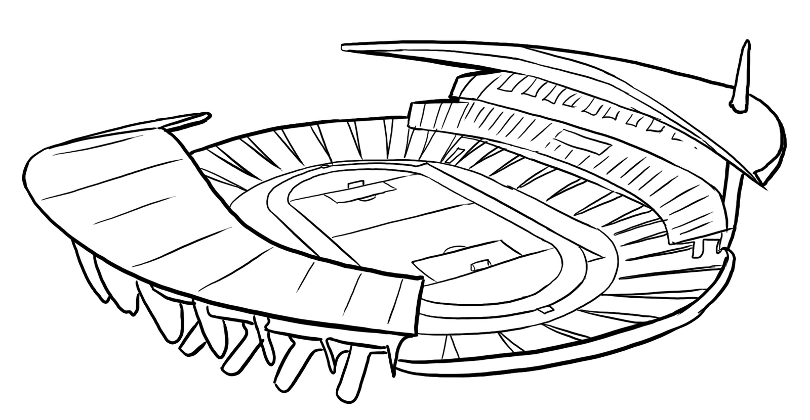 international stadium coloring page