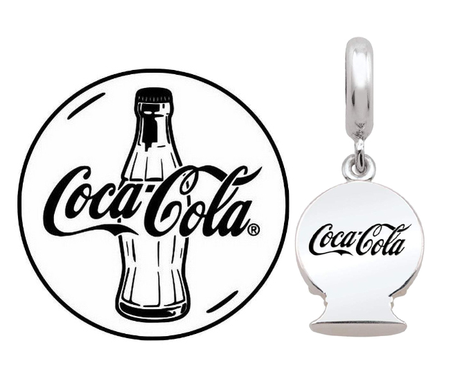 merchandise Coca Cola and Logo Coloring Page