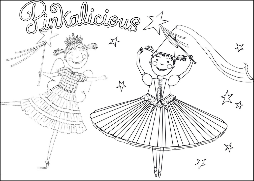 pinkalicious and peterrific musical coloring page