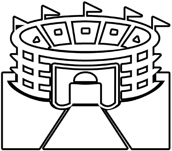 soccer stadium world cup coloring page