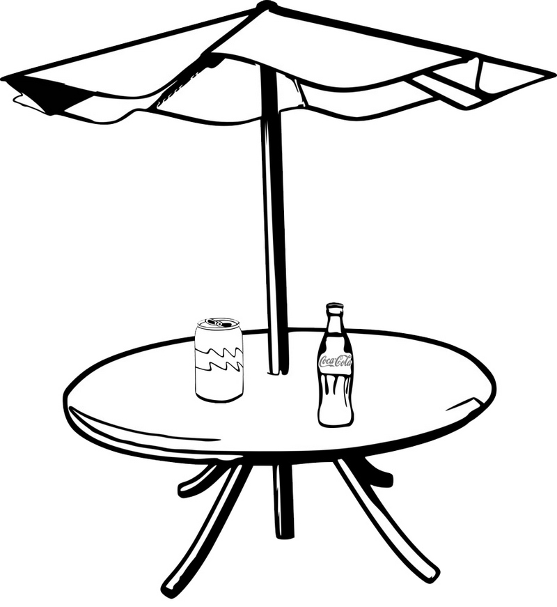 table umbrella garden coca cola coloring page
