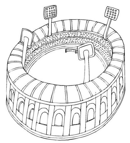 world class stadium coloring page