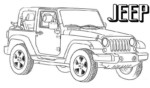 10 Most Popular Jeep Coloring Pages for Kids and Adults