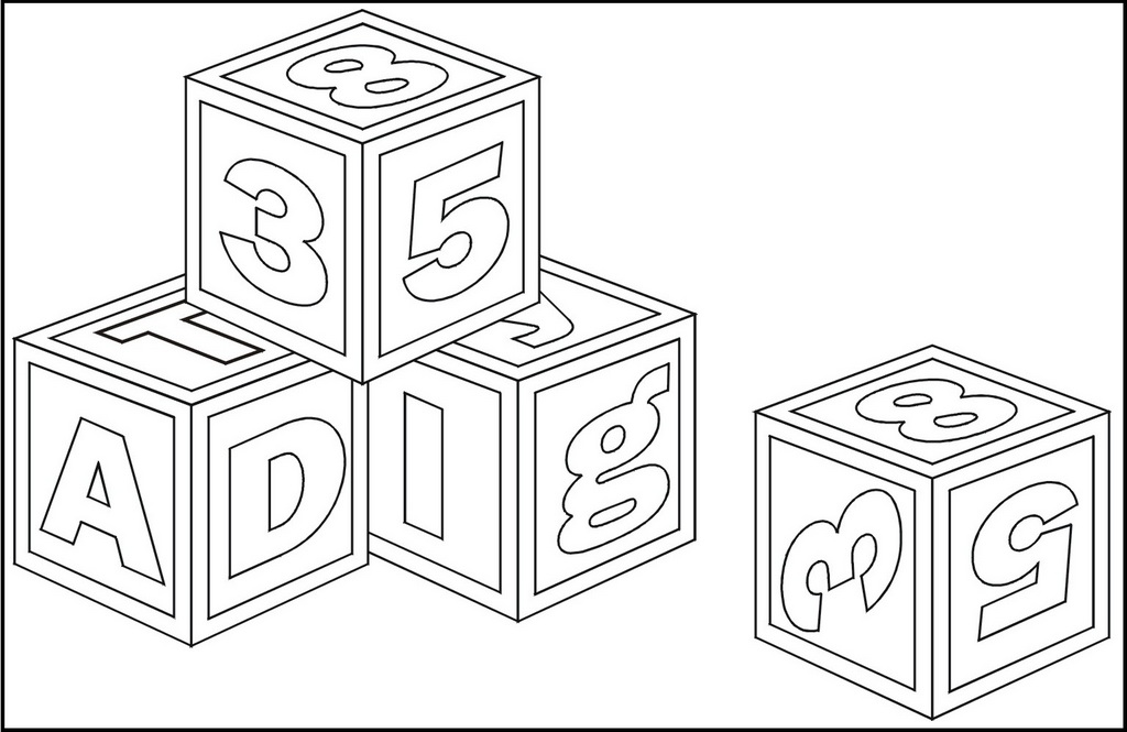 ABC and Numbering Coloring Page
