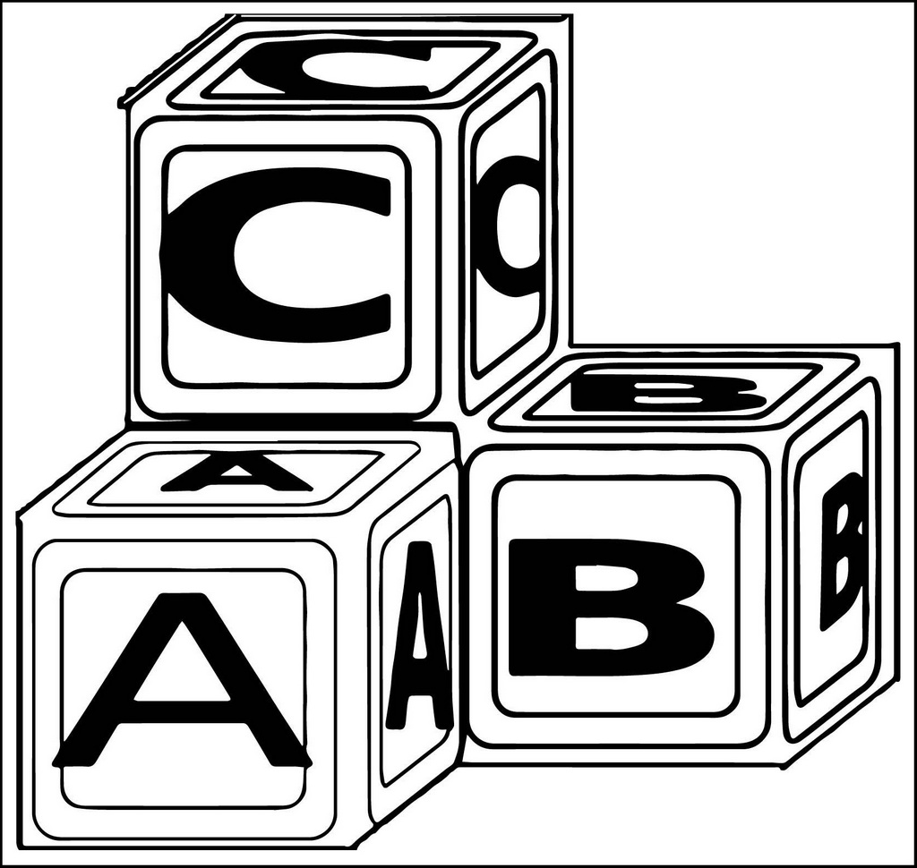 Alphabet Abc Blocks Coloring Pages