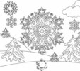 12 Fascinating Snowflakes Coloring Pages to Have Fun This Winter