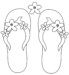 Pretty Awesome Flip Flops Coloring Pages for Girls and Boys