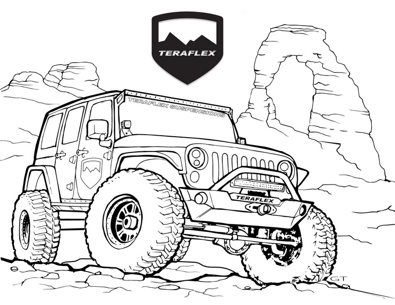 Best Jeep Teraflex Coloring Page