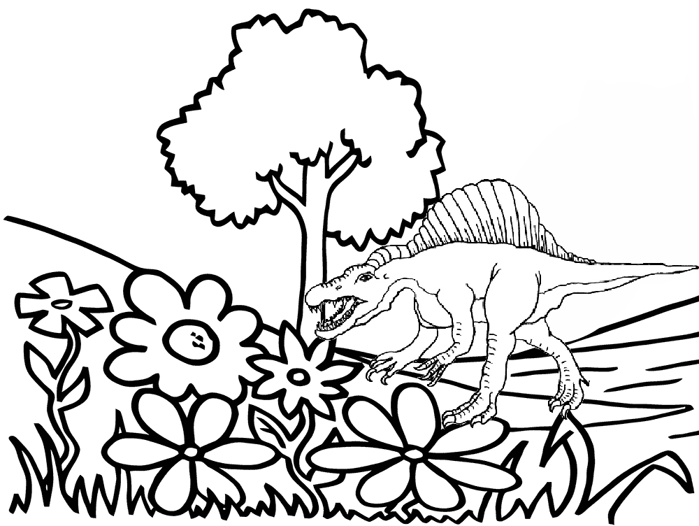 Best Spinosaurus Coloring Page to Print