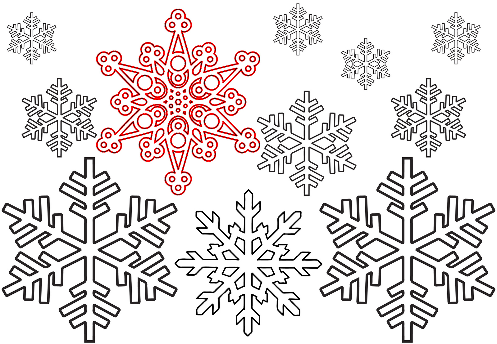 Christmas Snowflake Printable Coloring Pages