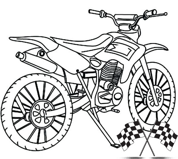 Cool dirt bike coloring pages