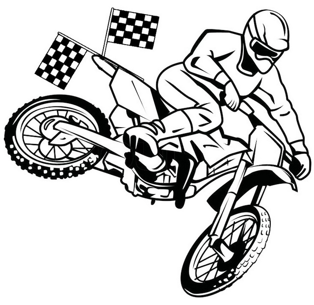 racing dirt bikes coloring pages - photo#31