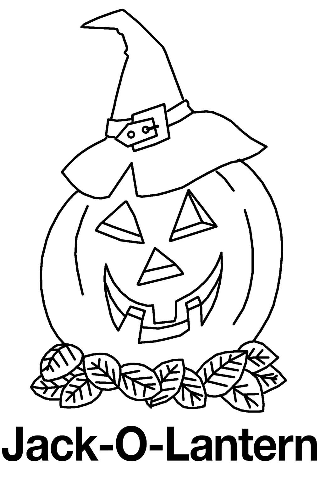 Evil Jack o lantern Coloring Pages