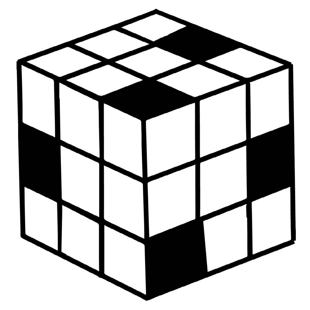 Fun Rubiks Cube Game Coloring Pages