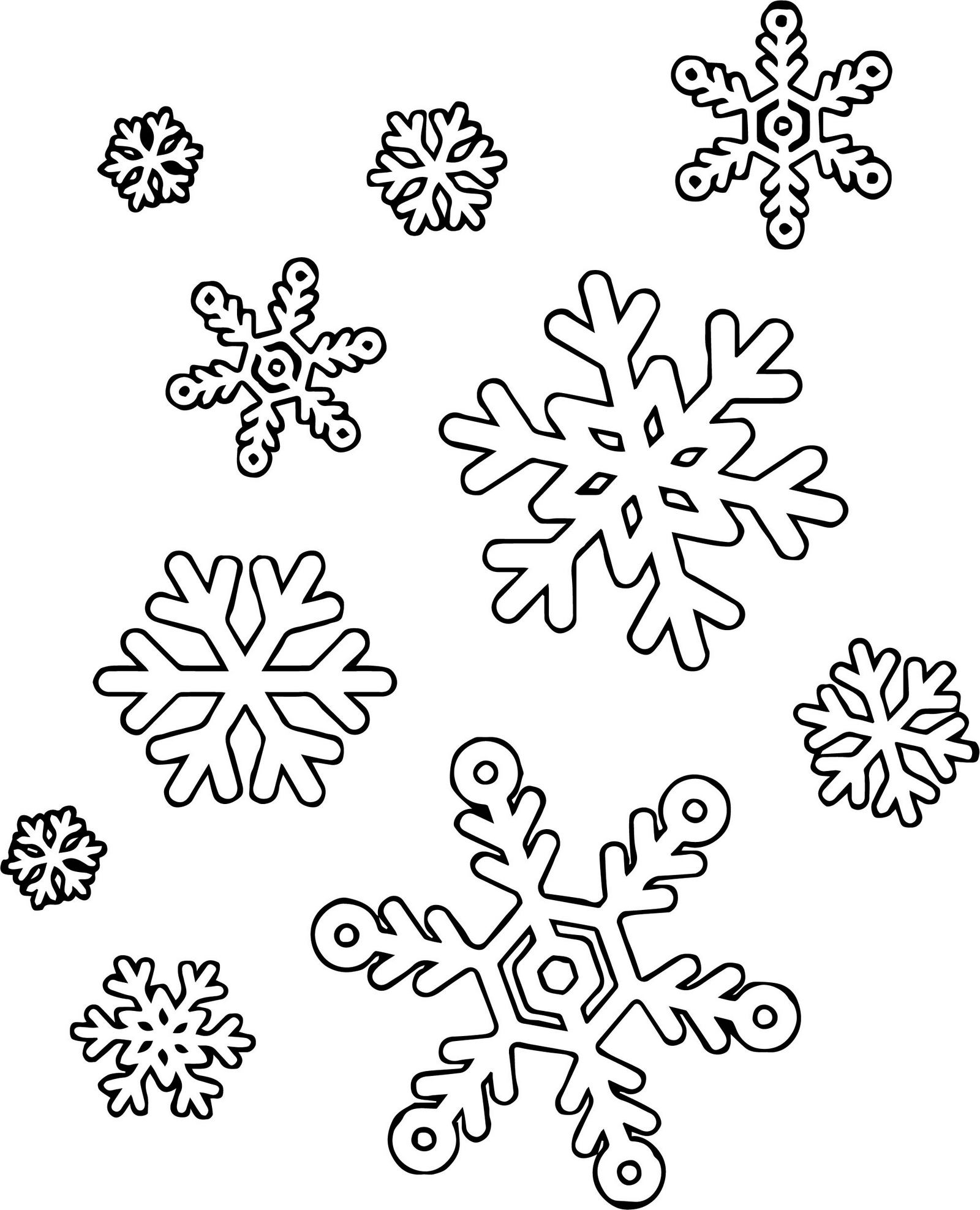 Fun and Easy Snowflake Coloring Page