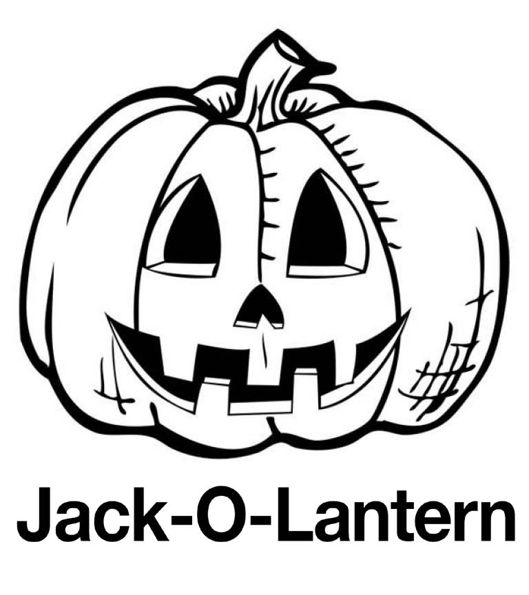 Jack o lantern Pumpkin coloring pages
