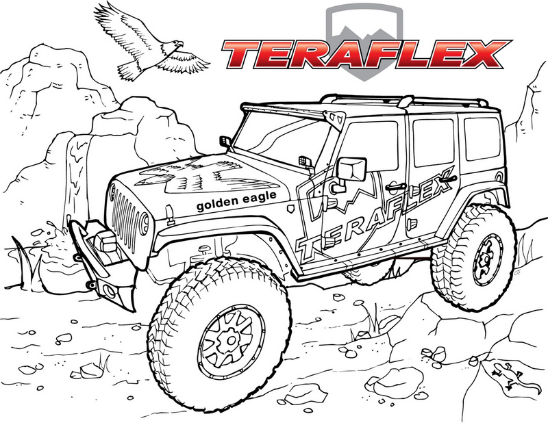 Jeep Teraflex Off Road Coloring Pages