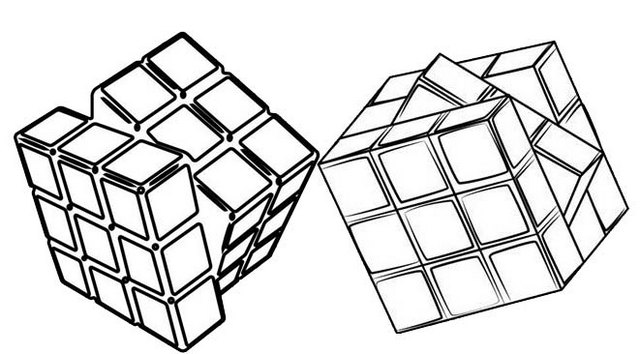 Minecraft Rubiks Cube Coloring Page
