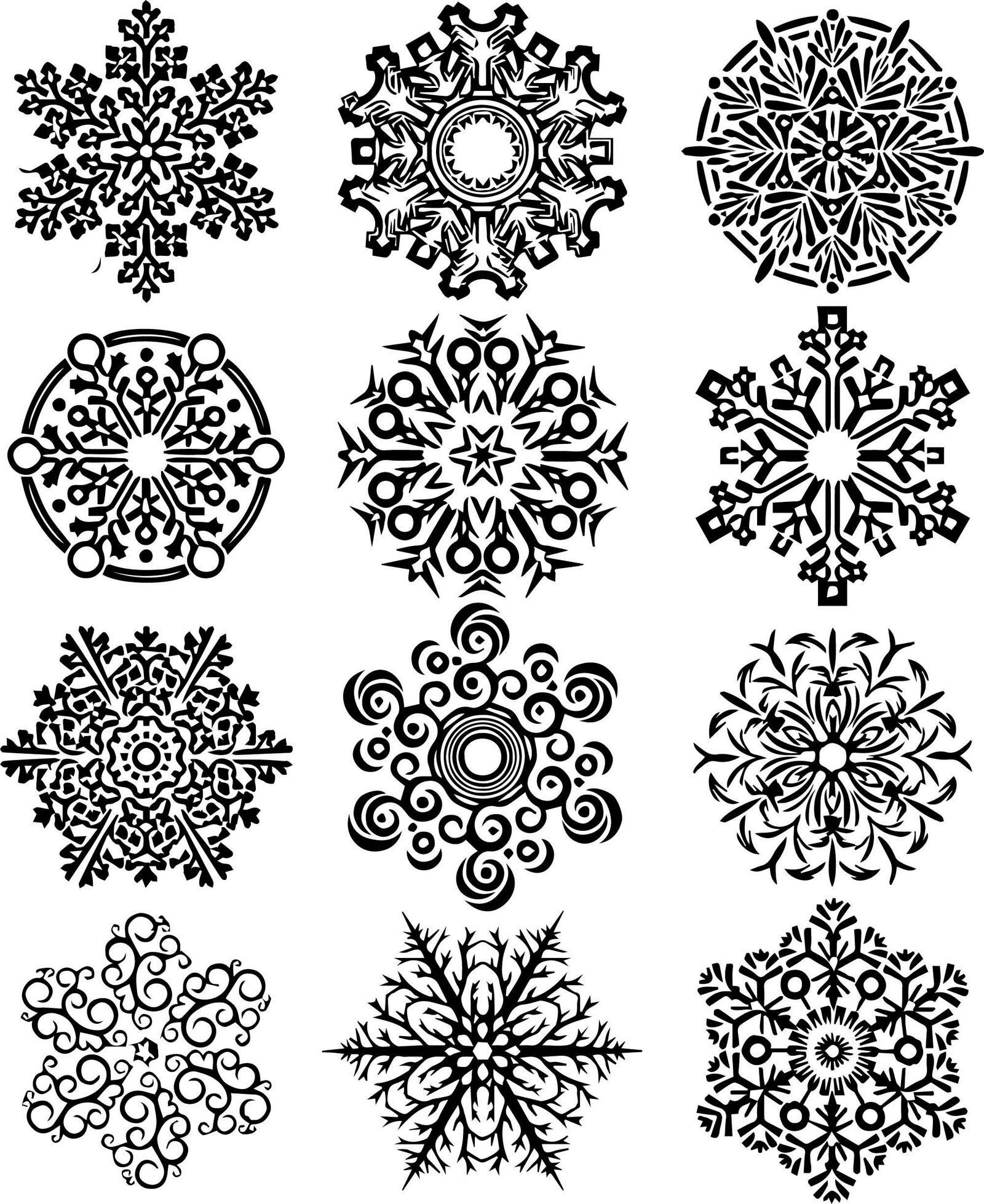 Snowflake Bead Coloring Page