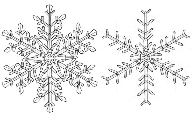 Snowflake Crystal Coloring Page